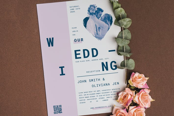 Thumbnail for Simple Wedding Invitation
