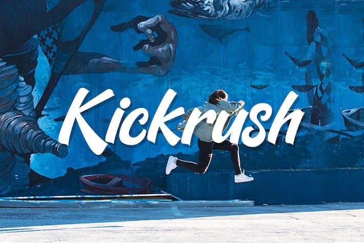Kickrush - Sport Handwritten Font