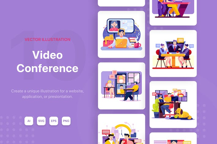 Thumbnail for Online Meeting Illustrations
