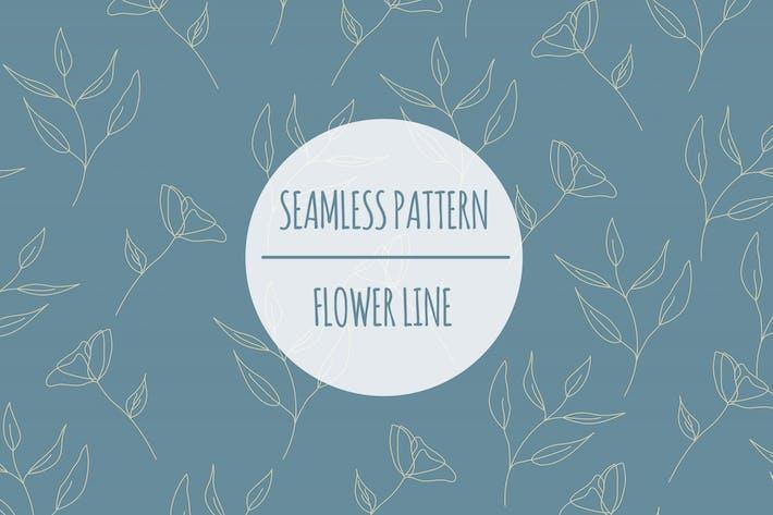 Thumbnail for Flower Line – Seamless Pattern