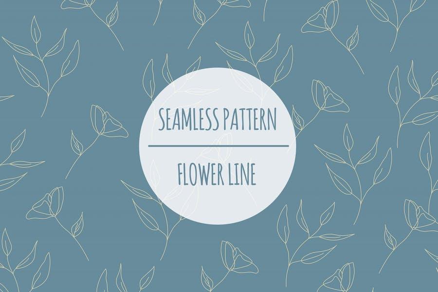 Flower Line — Nahtloses Muster