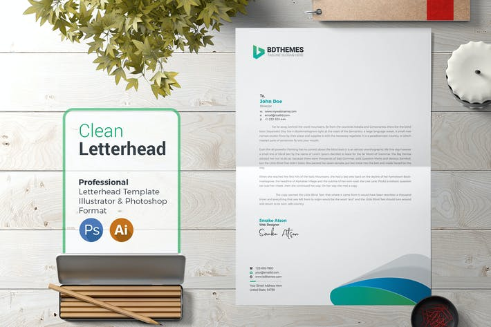 Thumbnail for Business Letterhead Template 02