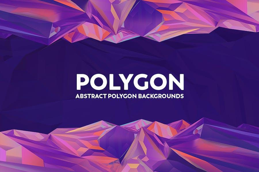 Abstrakte Polygon-Hintergründe - Bunte Farben