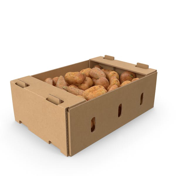 Thumbnail for Full Cardboard Box With Sweet Potato