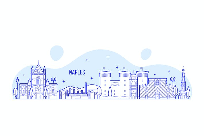 Thumbnail for Naples skyline