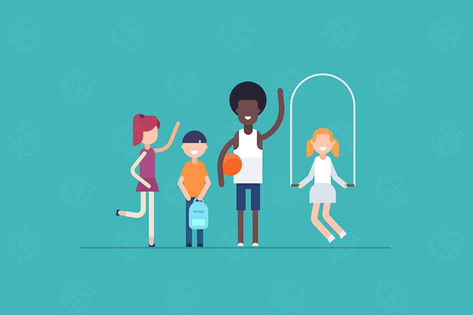 Download PE lesson - flat design style illustration by BoykoPictures