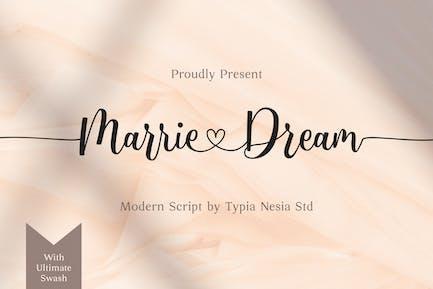 Marrie Dream - Wedding Font