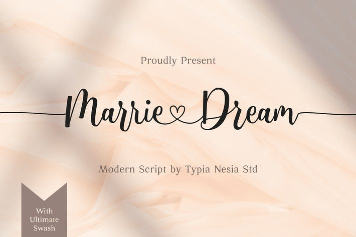 Thumbnail for Marrie Dream - Wedding Font