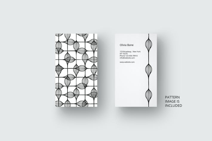Thumbnail for Business card template with black pattern