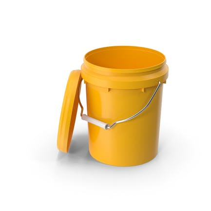 Plastic Bucket 5L with Lid and Handle