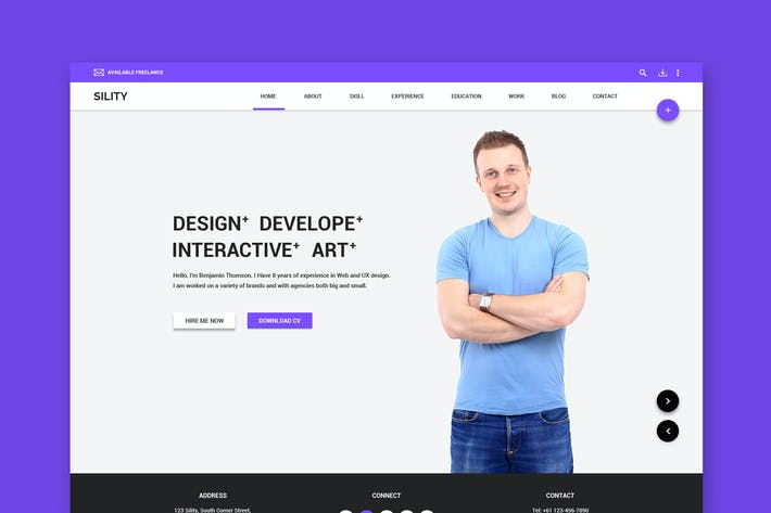 Thumbnail for Sility - Material Design Vcard & CV PSD Template