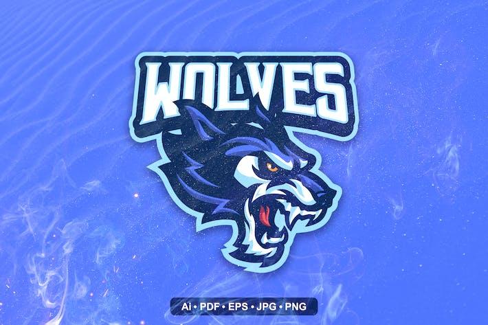 wolf Mascot Logo template
