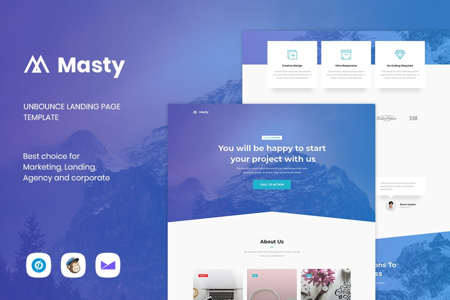 Masty - Lead Generation Unbounce Landing Page