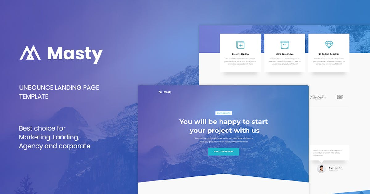 Download Masty - Lead Generation Unbounce Landing Page by PrexTheme