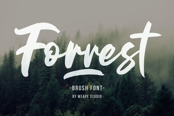 Thumbnail for Forrest - Brush Font