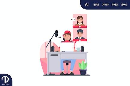 Online Class Illustrations