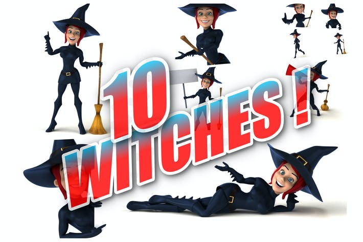 Thumbnail for 10 fun Witches !