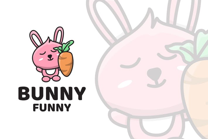 Thumbnail for Bunny Funny Cute Logo Template