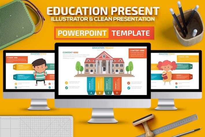Thumbnail for Шаблон слайдов Powerpoint для образования