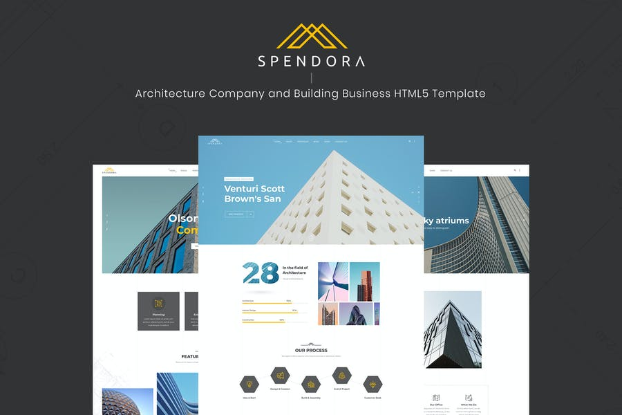 Spendora - Architecture and Building HTML Template