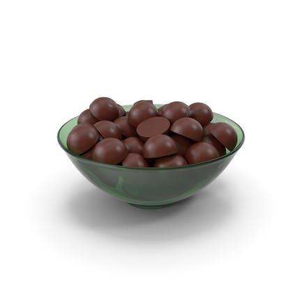 Glass Bowl With Dark Chocolate