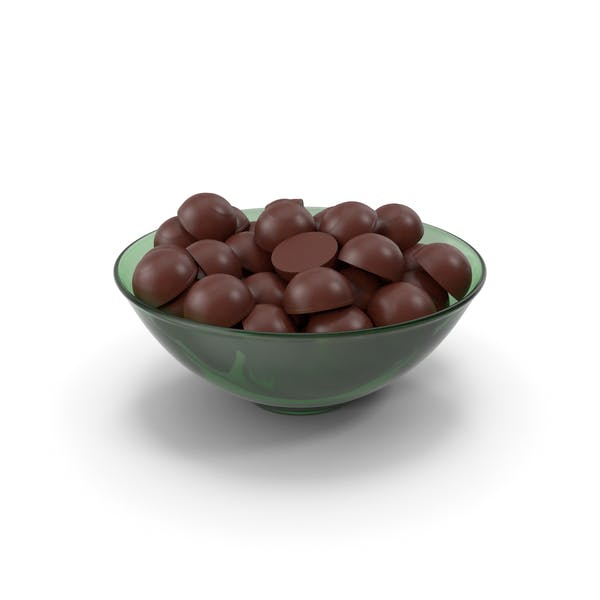 Glass Bowl With Dark Chocolate