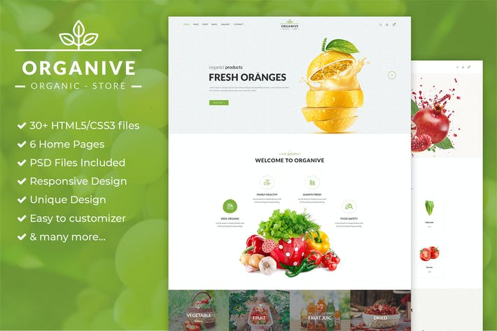 Thumbnail for Organic Store & Eco Food Products HTML5 Template