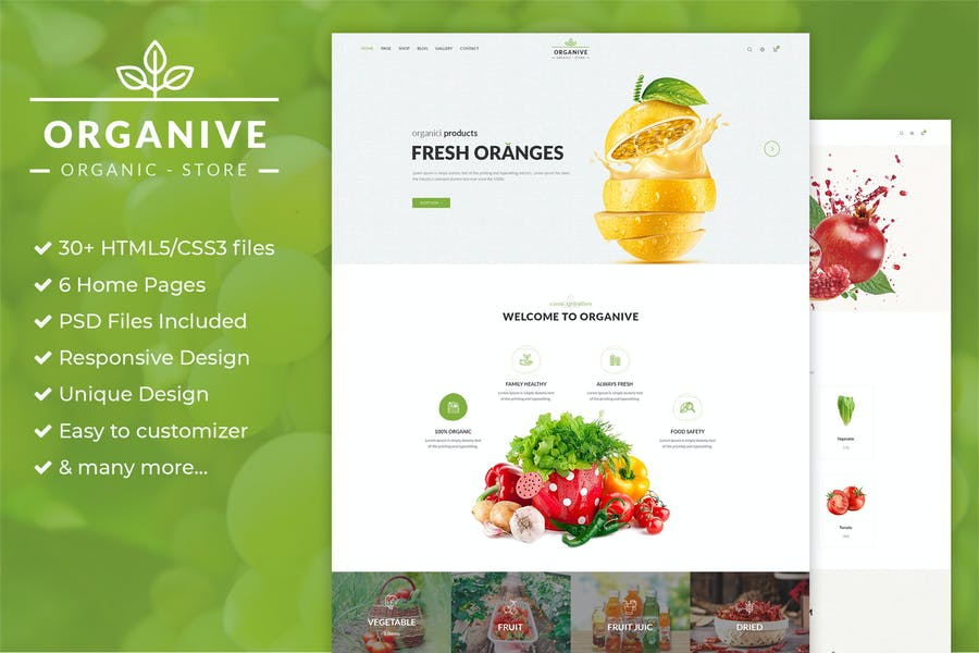 Organic Store & Eco Food Products HTML5 Template