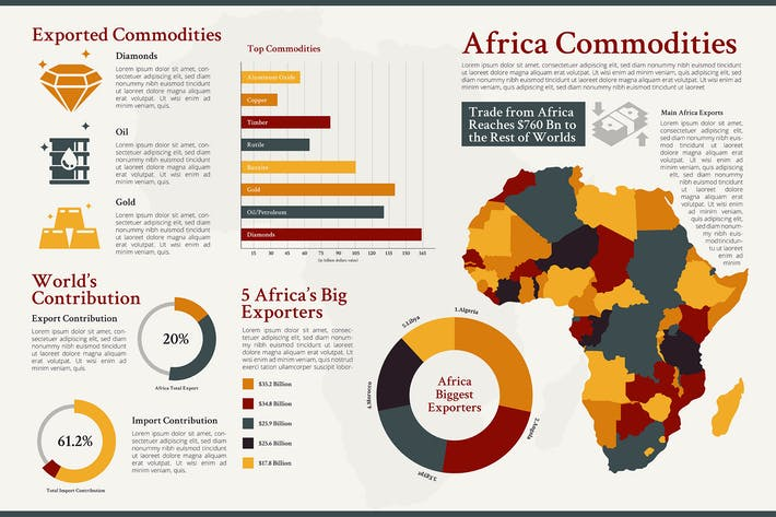 Africa Map - Geographic infographic templates