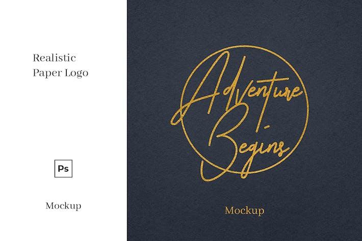 Thumbnail for Papier Logo Mockup Vol. 1
