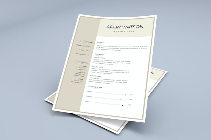 Cover Image For Professional CV Template