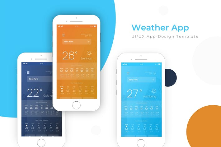 Thumbnail for Weather Template | App  Template