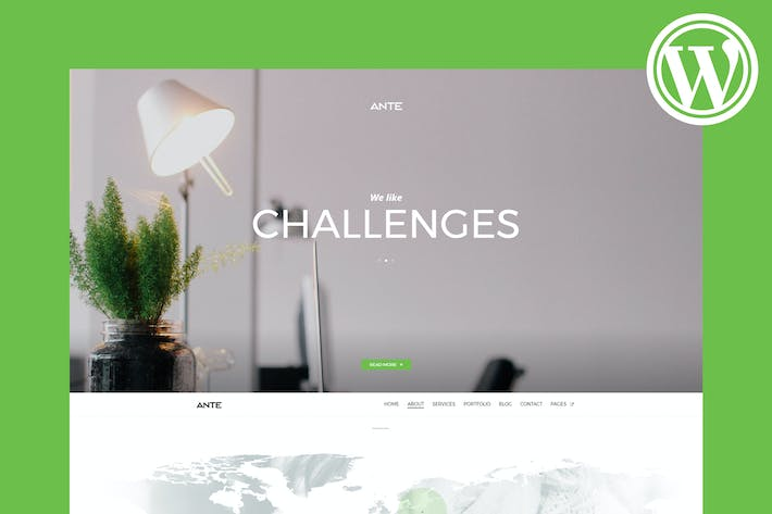 Thumbnail for Ante - The Ultimate WordPress Parallax Theme