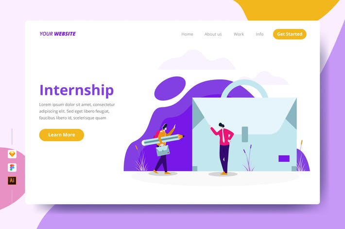 Thumbnail for Internship - Landing Page
