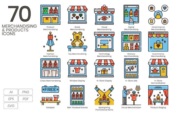 Thumbnail for 70 Merchandising & Produktlinie Icons