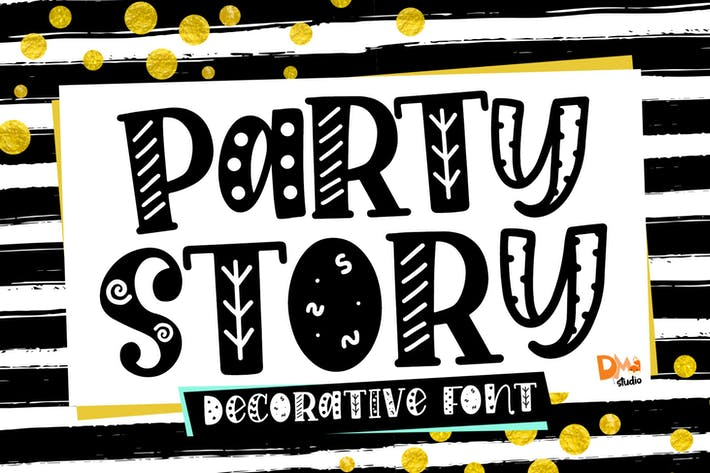 Thumbnail for Party Story - Decorative Font
