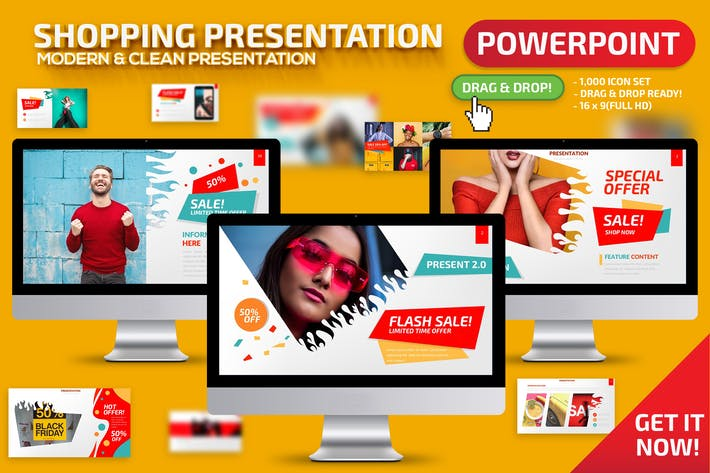 Shopping Powerpoint Presentation Template
