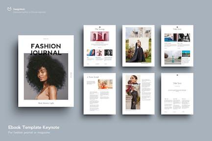 Шаблон EBOOK Мода, 22 Страницы, Ключевая заметка