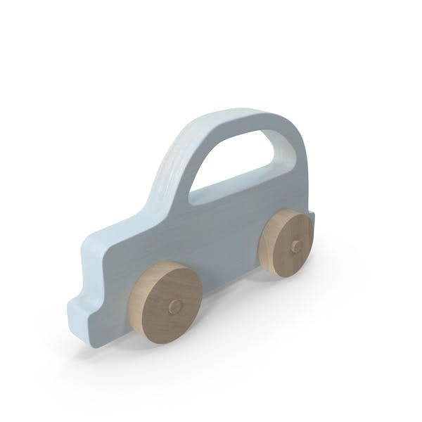Thumbnail for Baby Wooden Car Light Blue