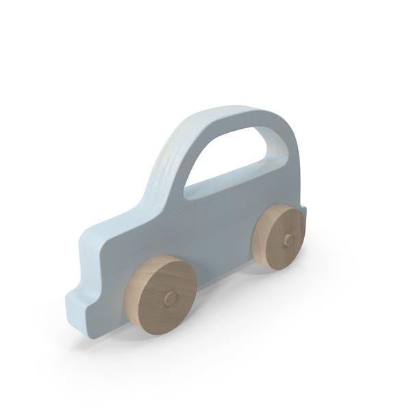 Baby Wooden Car Light Blue