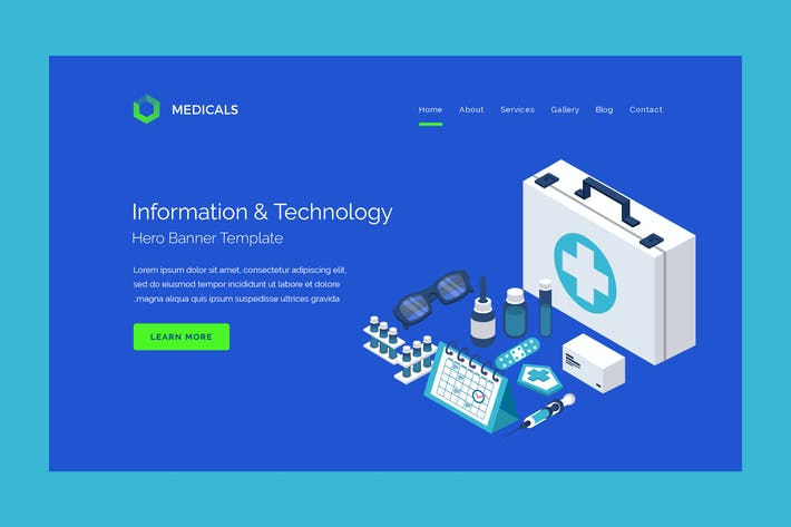 Thumbnail for Medicals - Hero Banner Template