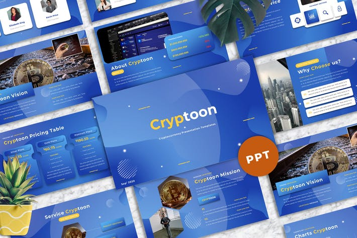 Cryptoon - Cryptocurrency Powerpoint Templates