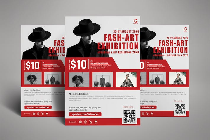 Thumbnail for Fashion Art Exhibition Poster Flyer