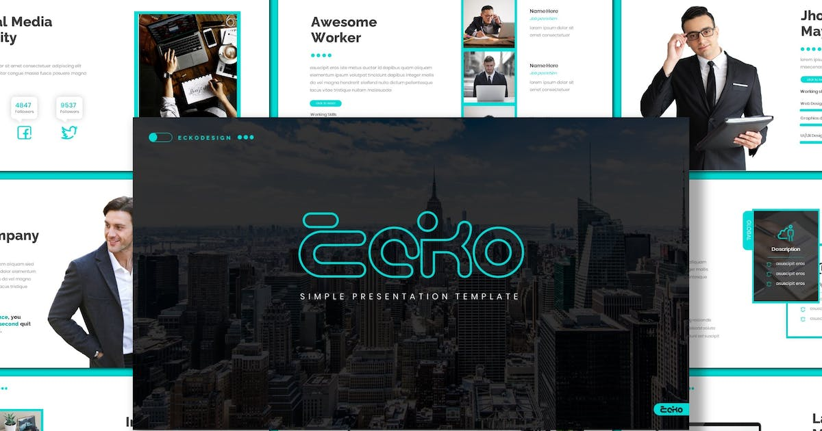 Download Ecko - Simple Powerpoint Template by inspirasign