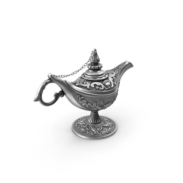 Antique Silver Magic Lamp
