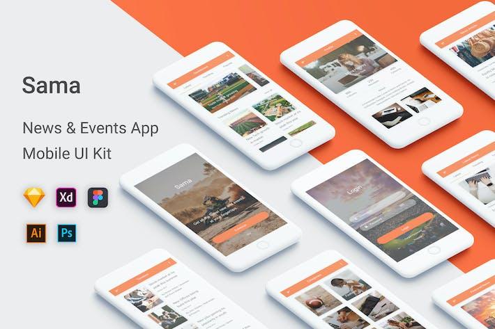 Thumbnail for Sama - News & Events UI Kit