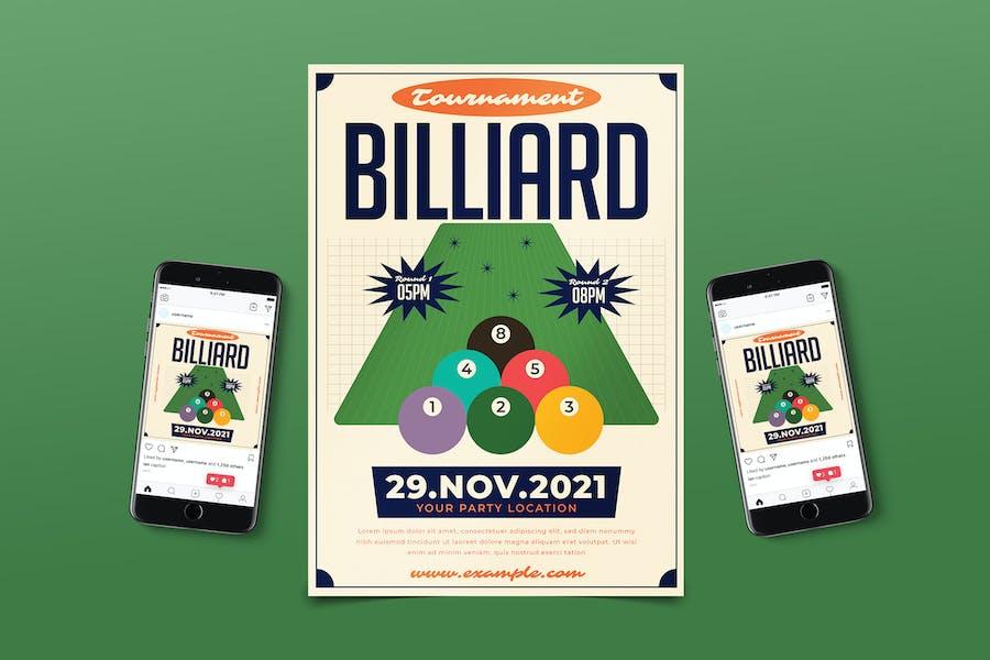 Billiard Tournament Flyer Pack