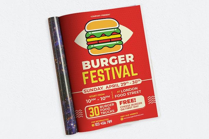 Thumbnail for Burger Festival Ads Magazine