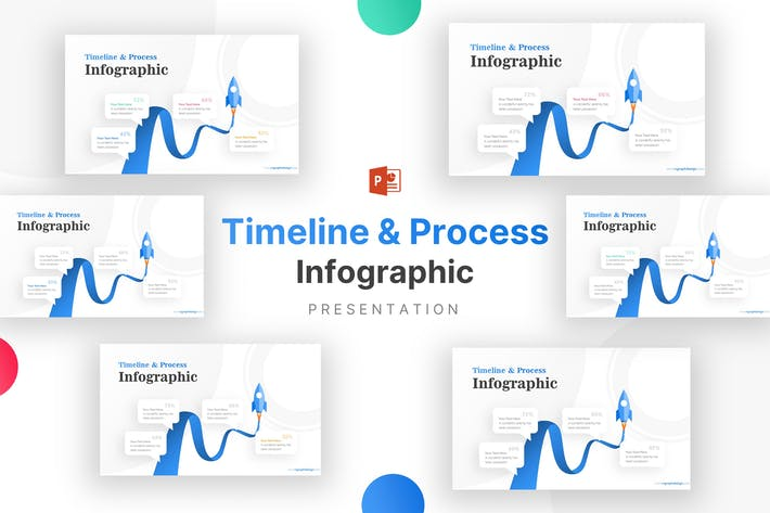 Thumbnail for Rocket for Business Timeline Infographic Template