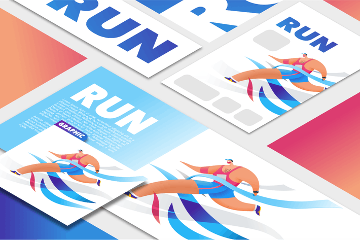Thumbnail for Marathon finish line graphic